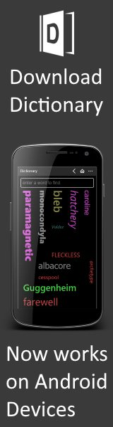 Free Windows Phone Dictionary app