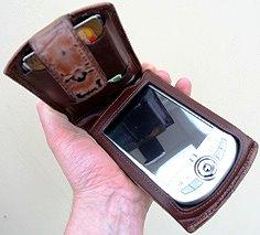 A pocket PC device in a wallet