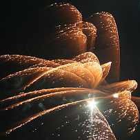 Fireworks in a high wind