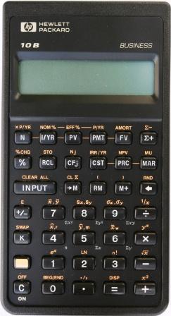 Hewlett Packard Hp 10b Calculator Org