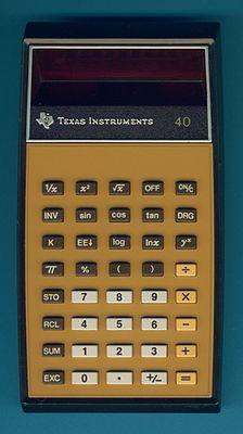 Texas Instruments TI-40 - calculator org